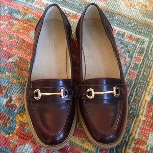 Brand new burgundy loafers by Wanted sz 7.5